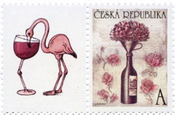 Selos postais sobre uvas e vinhos: os embaixadores elegantes da cultura do vinho pelo correio